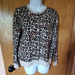 A New Day Leopard Print Cardigan size Large